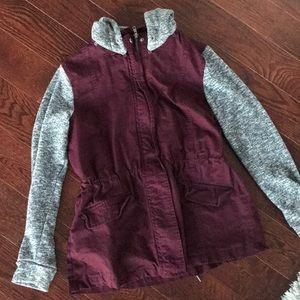 Sweatshirt utility jacket